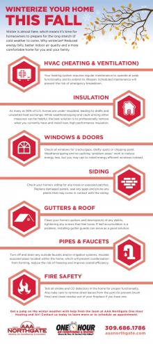 AAA Northgate One Hour Heating & Air, Ways to prepare your home for winter infographic, Peoria, IL