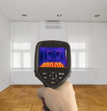 AAA Northgate One Hour Heating & Air, Thermal imagining of living room during energy audit , Peoria, IL