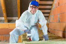 AAA Northgate One Hour Heating & Air, Technician installing attic insulation , Peoria, IL