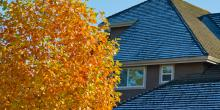 AAA Northgate One Hour Heating & Air, Autumn home with first snow on roof, Peoria, IL